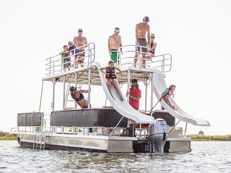 Double Deck Pontoon Boat Rental