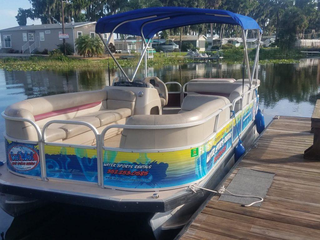 get wet pontoon boat tavares