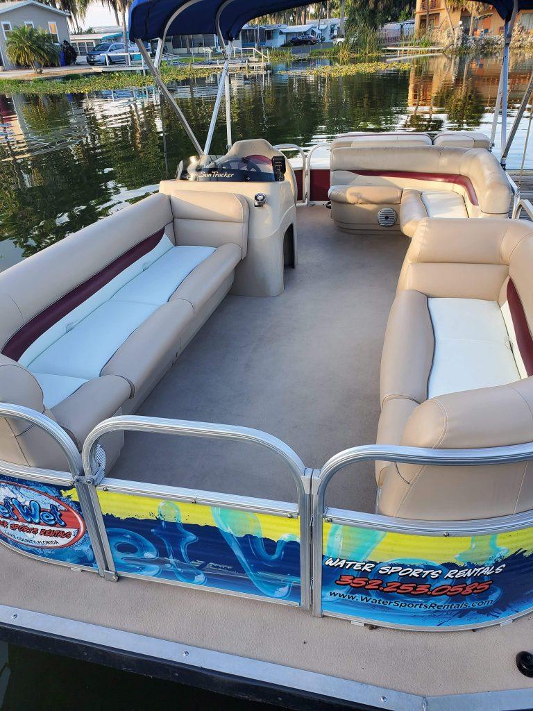 get wet pontoon boat rental tavares
