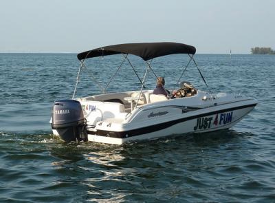 Boat Rentals 19' Hurricane Deck Boat Bowrider