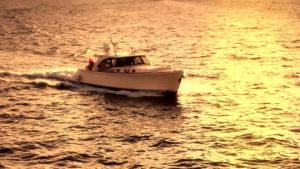 sunset on a miami yacht rental