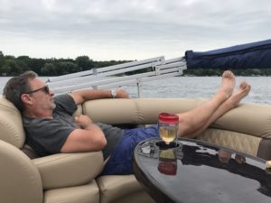 relaxing on a boat rental in miami beach