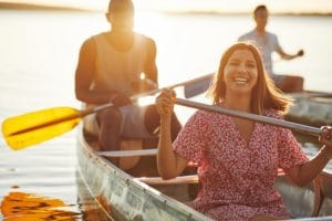 Suwannee Canoeing Sunset