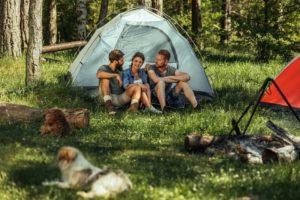 Camping buddies near santa fe river