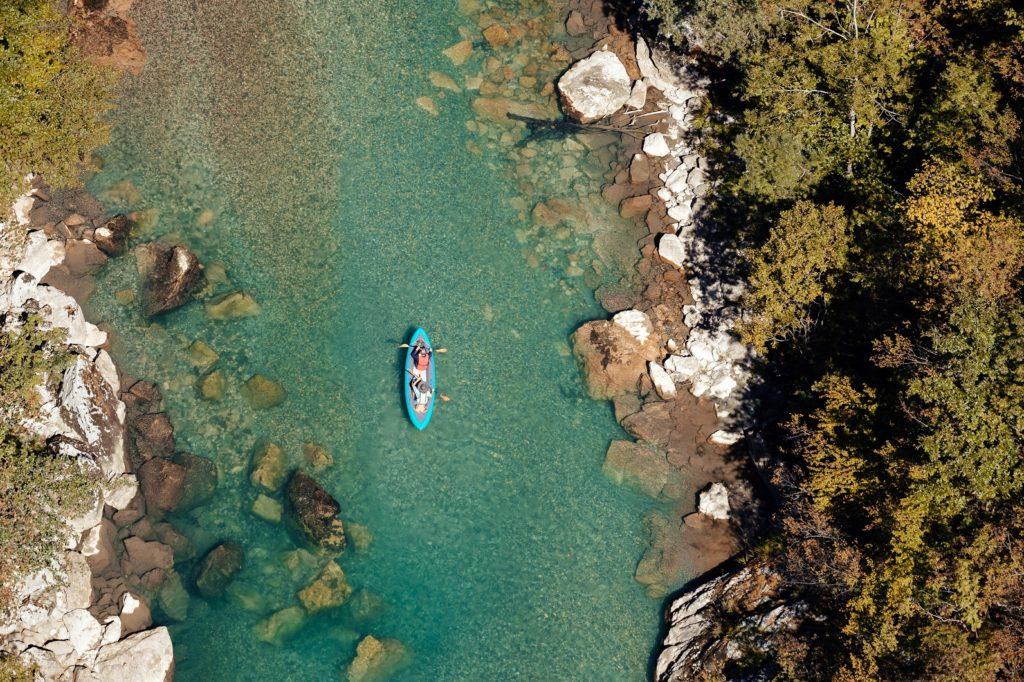 River Canoeing Suwannee Aerial