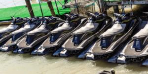 kayak rivers as a corporate event venue on a jet ski rental