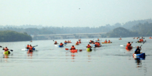 kayak rivers as a corporate event venue
